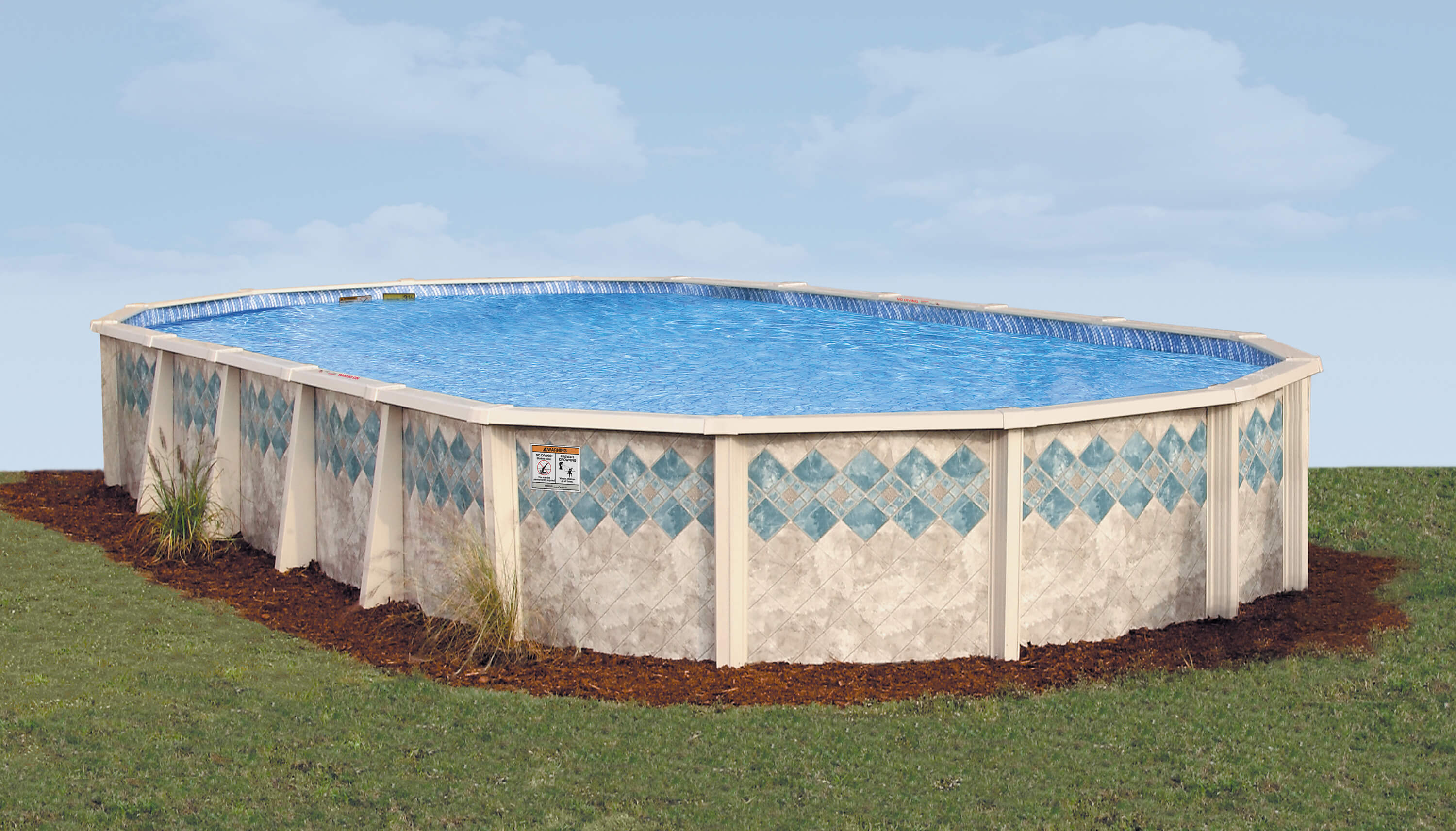 This Is A Photo Of The Oval Above Ground Pool