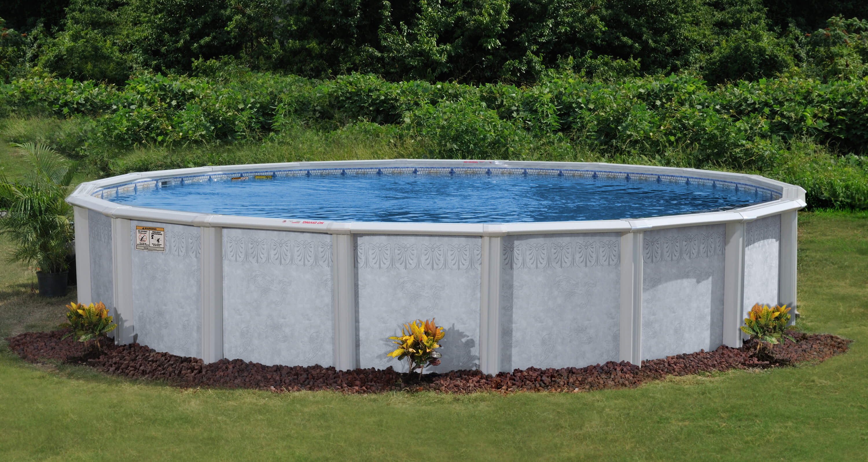 This Is A Staged Photo Of The Palm Shore Above Ground Swimming Pool.