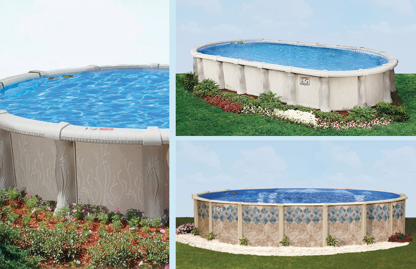 This is a photo of pools in a grid format.