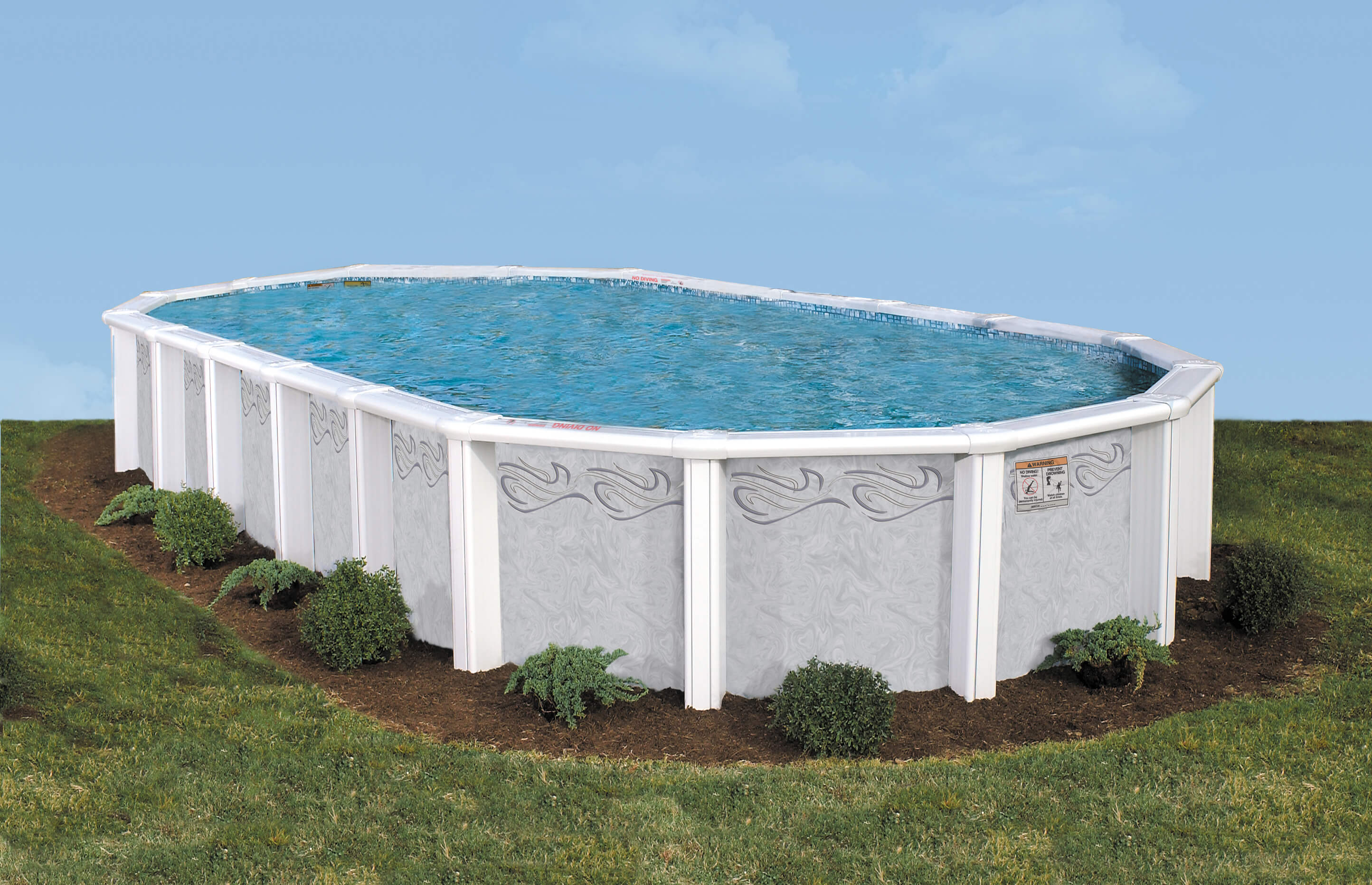 This Is A Photo Of The Saratoga Above Ground Swimming Pool.