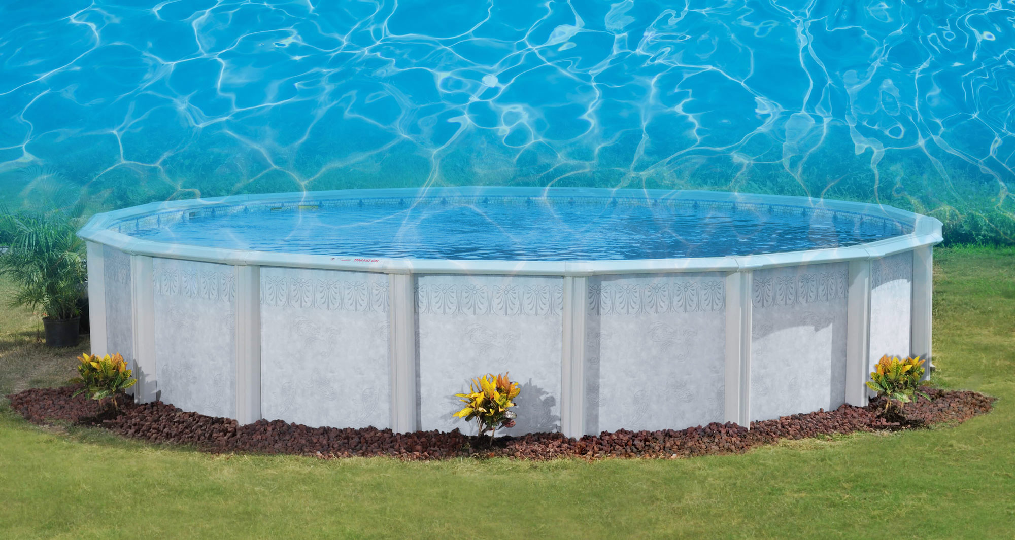 This is a photo a pool with a water overlay on top of it.