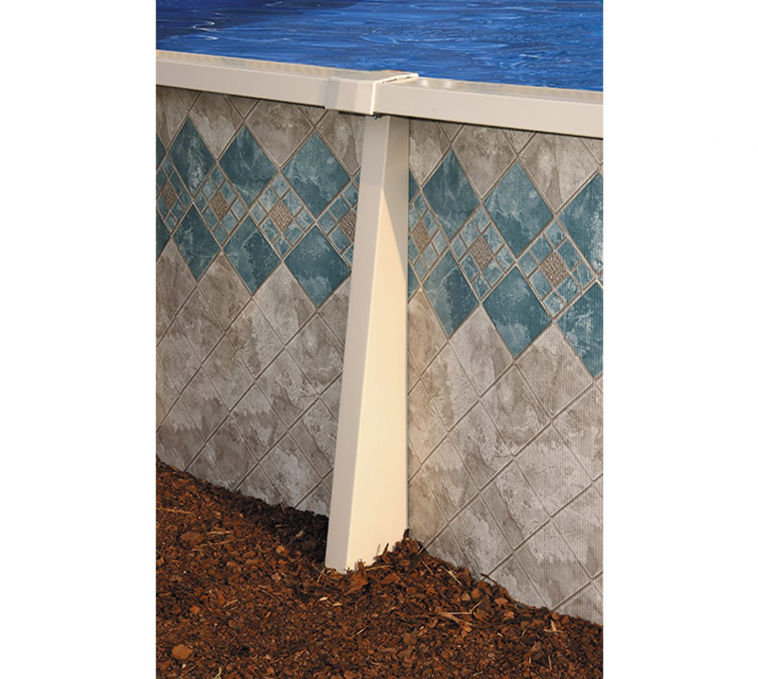 This Is A Photo Of The Side Of An Above Ground Swimming Pool.