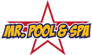 This is a photo of the Mr. Pool & Spa logo.