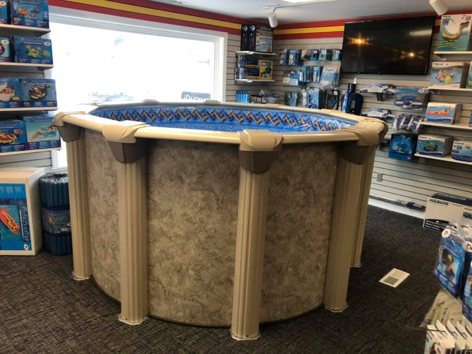 This is a photo of the Mr. Pool and Spa retail demo pool in the store.